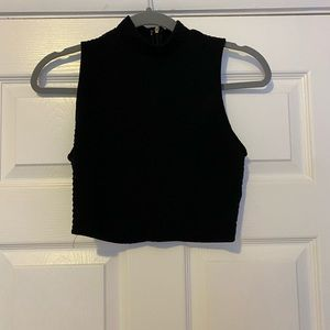 Forever 21 high neck crop top